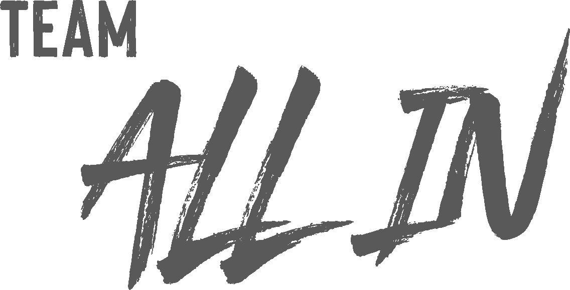 Team ALL IN - Half Logo - Grey