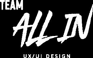 Team ALL IN - Full Logo - White